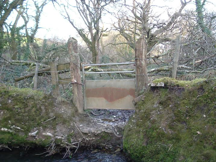 "Showing the ""gate"" at Melbury before."